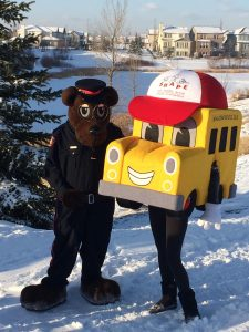 Walking School Bus mascot.