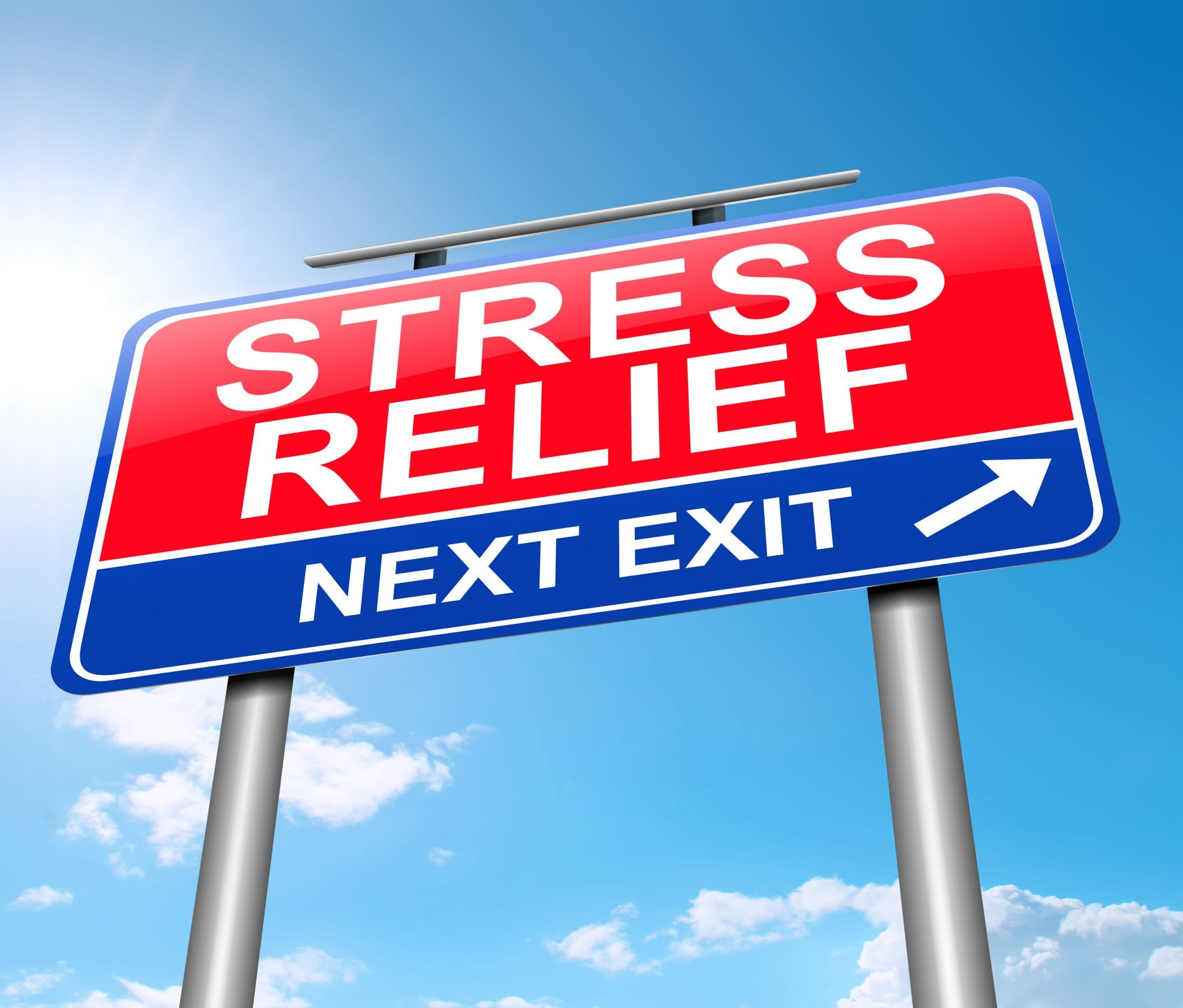 Stress relief stock image