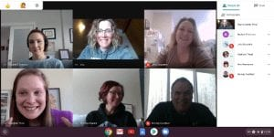 The Aurora Elementary School CSH team meets over Zoom.