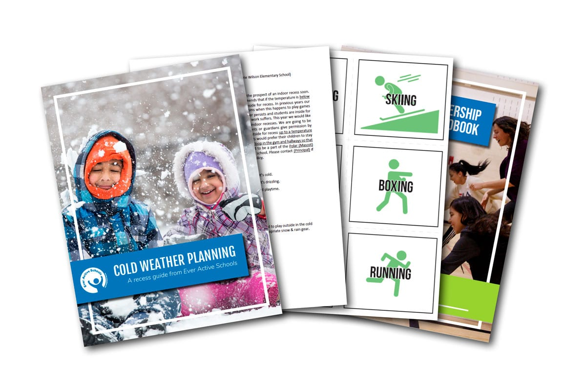 Sample pages from the Cold Weather Recess Planning Guide resource.